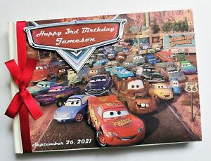 Personalised Disney Cars birthday guest book, disney cars album, gift