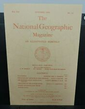 National Geographic Magazine ~ October 1896 issue (REPRINT 1964)