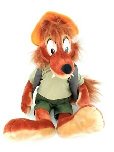 "VTG Disney Parks 24"" BRER Fox Plush Stuffed Animal Disneyland Splash Mountain"