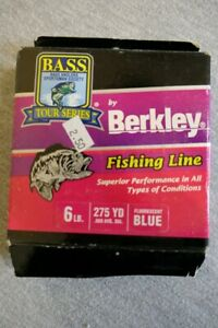 Bass Anglers Tour Series by Berkley Blue Fishing Line 6 Lb 275 Yd. USA L-09-8-11