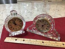 Vintage Shannon Quartz Crystal Mantel Clocks