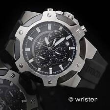 Men's Invicta Signature Chronograph Black Silicone 100M W/R 52mm SS Sport Watch