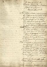 Bozza Autografa di Bernardo Moscheni Ciambellano del Granduca di Toscana 1840