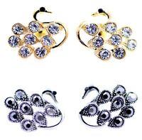 super lovely crystal swan earrings multiple choices