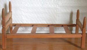 """Vintage Wooden Strombecker Doll Bed for 9-11"""" Dolls"""