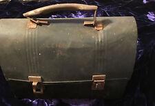 VINTAGE Black Metal Tin Lunchbox with Handle  1950's
