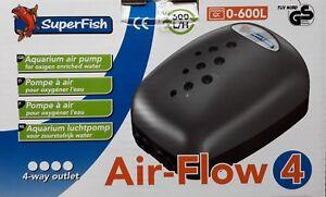 SUPERFISH AQUARIUM AIR PUMP AIR FLOW MINI, AIR FLOW 1, AIR FLOW 2, AIR FLOW 4