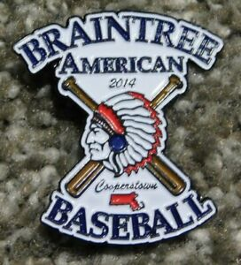 2014 Braintree American Baseball Pin Cooperstown Pin Little League