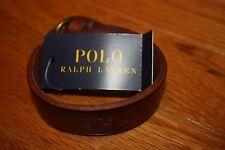 Brand New POLO RALPH LAUREN Brown Leather Collar Stud Bracelet SHIP FAST FREE