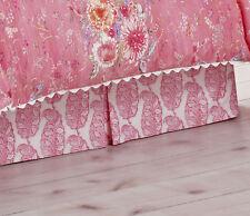 "Dena Home King Beskirt Amara Pink Coral white 15"" drop"