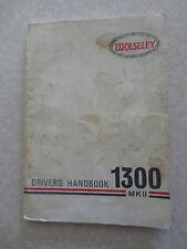 Original 1970s Wolseley 1300 MKII automobile owner's manual