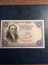 spain 25 pesetas bannote 1946 cat#130