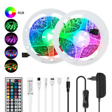 32.8FT 5050 SMD RGB LED Strip Light 10M Lamp 44 Key Remote 12V Power Full Kit