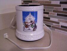 New Crazy Mountain Electric Xmas Christmas Snowman Church Candle Warmer