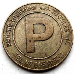 UK, PARKING EQUIPMENT AND SERVICES LTD Parking Token 25.5mm 6.5g Brass. MM9.5