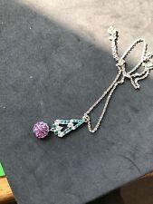 Suffragett Colour Necklace (6) Vintage Jewellery Art Deco Diamante