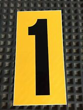 Go Kart - Number #1 - Yellow Background - Large - NEW