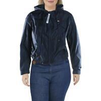 Tommy Hilfiger Sport Womens Navy Fall Windbreaker Jacket Outerwear XXL BHFO 7133
