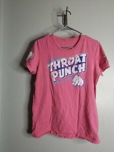 Women's XL Grunt Style Throat Punch T-shirt Pink