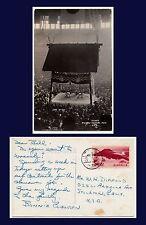 JAPAN SUMO WRESTLING STADIUM REAL PHOTO 1957 POSTED TO STOCKTON, CALIFORNIA