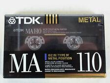 TDK MA-110 Metal Biased Metal Alloy 110 Minutes Cassette Tape SEALED