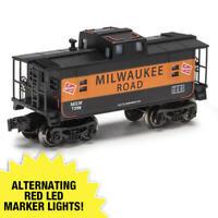 Single O Gauge Milwaukee Road Glowing Interior 2 LED Lighted Cupola Body Caboose