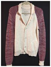 LOFT Designer Men's Cardigan Car Jacket Sweater Casual Blouson Soft Knit S Tall