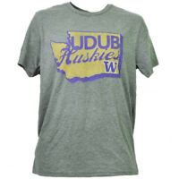 NCAA Washington Huskies State Map Logo Mens Tshirt Tee Short Sleeve Crew Neck