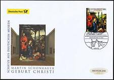 BRD 2015: Martin-Schongauer-Gemälde Post-FDC Nr. 3184 mit Berliner Stempel 1702