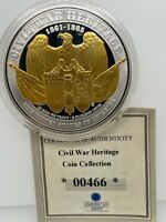 Issue 2018  Civil War Heritage Grand Army of the Republic Proof Medal 50mm COA.