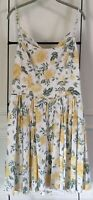 NWT GAL MEETS GLAM Yellow Floral Tie Back Sundress Size 18 Ecru Maize
