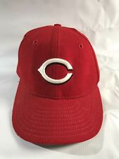 Vintage MLB Cincinnati Reds Baseball Cap Hat 100% Wool Fitted 7 1 4 b20fe48c5dce