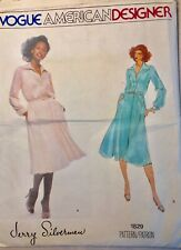 Jerry Silverman Vogue American Designer Vtg Sewing Pattern Dress Size12 Uncut