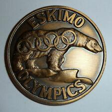 New ListingFairbanks Alaska Medal 1965 Eskimo World Olympics Polar Bear & Rings C of C