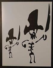"Skeleton Pirate 8.5"" x 11"" Custom Stencil FAST FREE SHIPPING"