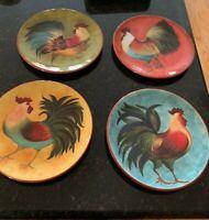 "Cracker Barrel BREAK OF DAWN 8 1/4"" Salad / Dessert Plates Complete Set of 4"