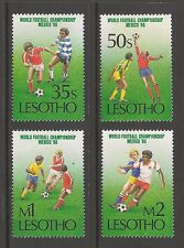Lesotho #521-524 VF MINT NH - 1986 35s to 2m World Cup Soccer, Mexico