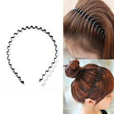 Unisex Sport Hairband Black Wavy Hair Head Hoop Band Headband For Men Women