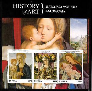 Guyana 2013 MNH History of Art Renaissance Era Madonnas 3v M/S Carlo Crivelli