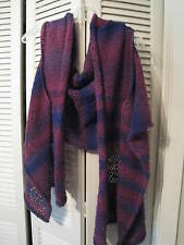 Unique hand-crafted one-of-a-kind funky shawl vest shrug wrap swing OSFA