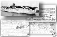 """Plans for 1/200 German aircraft carriers """"Graf Zeppelin"""