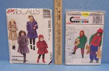 Girls Patterns Sweats Jacket Coat Hood Muff Scarf Faux Fur Sz 4 - 12 Lot of 2