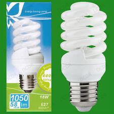 4x 18W Daylight SAD Low Energy CFL 6500K White Light Spiral Bulbs ES E27 Lamps