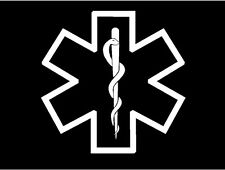 Medic Star of Life Symbol Decal EMT EMS medical car truck vinyl window sticker
