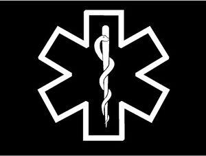 Medic Star of Life Symbol Decal EMT EMS medical car truck vinyl window sticker