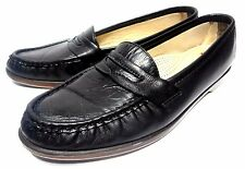 SAS LOAFERS 9 N (NARROW) WOMENS CASUAL BLACK LEATHER COMFORT SHOES