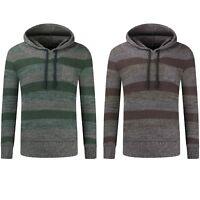 NEW Men Woven Fleece Hoodie Long Sleeve Sweater Hoody Jacket Sizes S-2XL Stripes