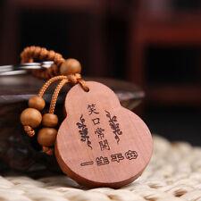 Palissandre naturel Porte-clés Pendentif clé Magnifiquement Chanceux  Bouddha FR