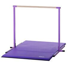Purple Horizontal Bar and Folding Gymnastics Mat Combo