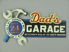 G3836 Retro Metal Sign Dad`s Garage Car Workshop Shield 27x49